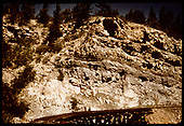 View of RGS Bridge 9-A after southbound RMRRC trip has passed over.  Most likely taken from rear platform of &quot;Edna&quot;.<br /> RGS  Pleasant Valley, CO  Taken by Pfeiffer, Jack A. - 9/1/1951