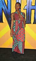 Michaela Coel at the &quot;Black Panther&quot; European film premiere, Hammersmith Apollo (Eventim Apollo), Queen Caroline Street, London, England, UK, on Thursday 08 February 2018.<br /> CAP/CAN<br /> &copy;CAN/Capital Pictures