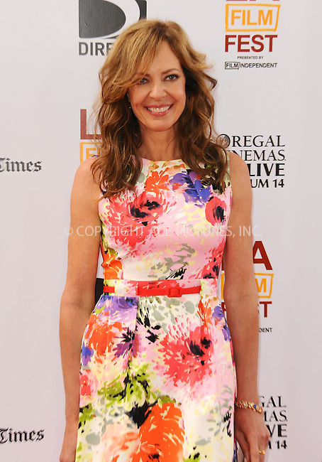 WWW.ACEPIXS.COM<br /> <br /> June 23 2013, LA<br /> <br /> Allison Janney at the 2013 Los Angeles Film Festival premiere of the Fox Searchlight Pictures' 'The Way, Way Back' held on June 23, 2013 in Los Angeles, California.<br /> <br /> By Line: Peter West/ACE Pictures<br /> <br /> <br /> ACE Pictures, Inc.<br /> tel: 646 769 0430<br /> Email: info@acepixs.com<br /> www.acepixs.com