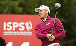 Danny Willett tees off on the 14th during the first round of the ISPS Handa Wales Open 2013 at the Celtic Manor Resort<br /> <br /> 29.08.13<br /> <br /> ©Steve Pope-Sportingwales