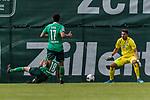 07.07.2019, Parkstadion, Zell am Ziller, AUT, TL Werder Bremen Zell am Ziller / Zillertal Tag 03 - FSP Blitzturnier<br /> <br /> im Bild<br /> Niklas Moisander (Werder Bremen #18), <br /> Nuri Sahin (Werder Bremen #17), <br /> Stefanos Kapino (Werder Bremen #27), <br /> <br /> im ersten Spiel des Blitzturniers SV Werder Bremen vs WSG Swarowski Tirol, <br /> <br /> Foto © nordphoto / Ewert