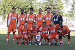 05 September 2010: Carolina's starters pose for a team photo. Front row (l to r): Devon McKenney, Josh Gardner, John Gilkerson, Cory Elenio, Joseph Kabwe. Back row (l to r): Andriy Budnyy (UKR), Gregory Richardson (GUY), Claudio Suarez (MEX), Caleb Norkus, Marques Davidson (JPN), Eric Reed. The Carolina RailHawks (USA) defeated Pumas Morelos (MEX) 3-0 at WakeMed Stadium in Cary, North Carolikna in an international club friendly.