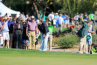 Hideki Matsuyama (JPN) on the 4th during the 2nd round of the Waste Management Phoenix Open, TPC Scottsdale, Scottsdale, Arisona, USA. 01/02/2019.<br /> Picture Fran Caffrey / Golffile.ie<br /> <br /> All photo usage must carry mandatory copyright credit (© Golffile | Fran Caffrey)