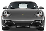 Straight front view of a 2009 Porsche Cayman S