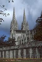 Europe/France/Bretagne/29/Finistère/Quimper : La cathédrale de Quimper (XIII°)