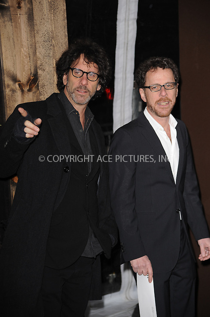 WWW.ACEPIXS.COM . . . . . .December 14, 2010...New York City...Joel Coen and Ethan Coen attend the premiere of 'True Grit' at the Ziegfeld Theatre on December 14, 2010 in New York City. ....Please byline: KRISTIN CALLAHAN - ACEPIXS.COM.. . .Ace Pictures, Inc: ..tel: (212) 243 8787 or (646) 769 0430..e-mail: info@acepixs.com..web: http://www.acepixs.com .