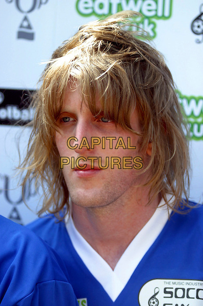 RAZORLIGHT.CHRISTIAN SMITH PANCORVO.10th Annual Music Inductry Soccer Six Tournament, Aston Villa Football Ground, Birmingham..May 15th, 2005..portrait headshot Smith-Pancovro.www.capitalpictures.com.sales@capitalpictures.com.©Jez C. Self/Capital Pictures