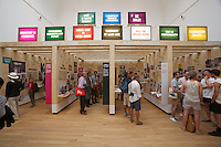"""13th Biennale of Architecture..Giardini..British Pavillion..'venice takeaway' curated by Vicky Richardson and Vanessa Norwood..""""Research Emporium""""."""