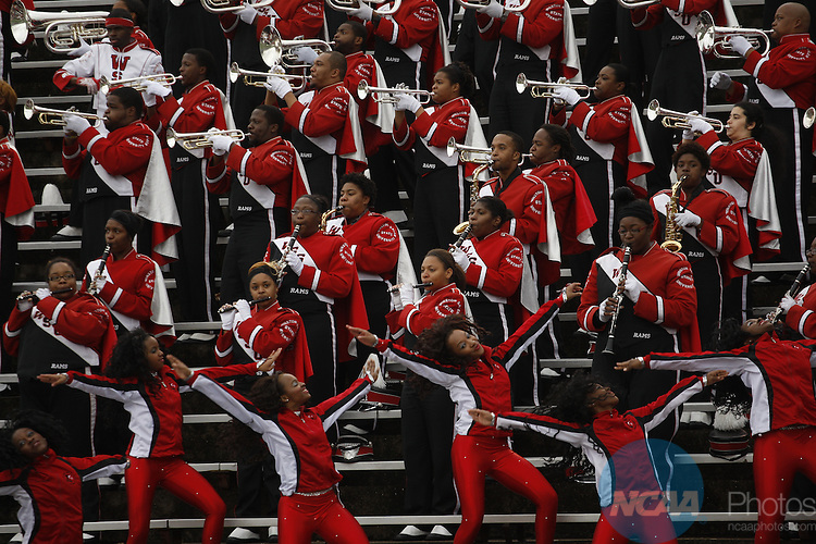 15 DEC 2012:  The Winston-Salem State Rams take on the Valdosta State Blazers during Division II Men's Football Championship held at Braly Municipal Stadium in Florence, Alabama.  Valdosta defeated Winston-Salem 35-7 to win the national title.  Tim Clark/NCAA Photos
