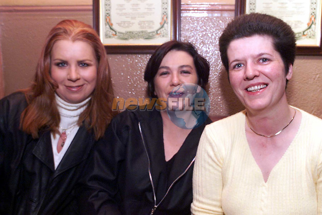 Elevenyn McCann, Annette Curtis and Beatrice Traynor, Stamullen, at the poker classic in Whytes pub..Picture:Newsfile