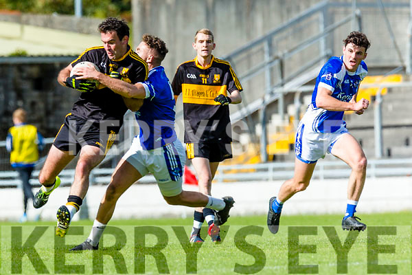 Ambrose O'Donovan Dr Crokes in action against Ross O'Callaghan Kerins O'Rahillys in the Quarter Finals of the Kerry County Football Championship at Austin Stack Park on Saturday.