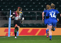 28th December 2019; Twickenham, London, England; Big Game 12 Womens Rugby, Harlequins versus Leinster; Jess Breach of Harlequins runs in her second try - Editorial Use