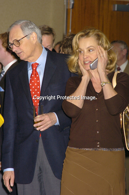 Alan Alda and Jessica Lange..at the 71st Annual Drama League Awards Luncheon on ..May 13, 2005 at the Marriott Marquis Hotel. ..Photo by Robin Platzer, Twin Images