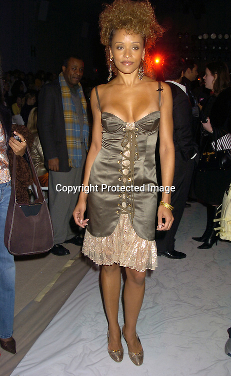 Stacie J ..at the Zang Toi Fall 2005 Fashion Show on February 5, 2005 at Bryant Park. ..Photo by Robin Platzer, Twin Images