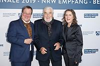 Armin Laschet (CDU), Mario Adorf, Petra Mueller <br /> ***NRW Reception during the 68th International Film Festival Berlinale, Berlin, Germany - 10 Feb 2019 *** Credit: Action PRess / MediaPunch<br /> *** USA ONLY***