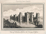 Bodiam Castle Sussex.     Date: circa 1750     Source: Engraved for England Display'd