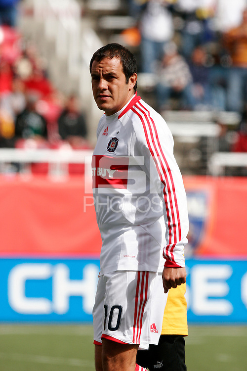 Cuauhtemoc Blanco of the Chicago Fire. The Chicago Fire and Real Salt Lake played to a 1-1 tie during a Major League Soccer match at Rice-Eccles Stadium in Salt Lake City, Utah on March 29, 2008.
