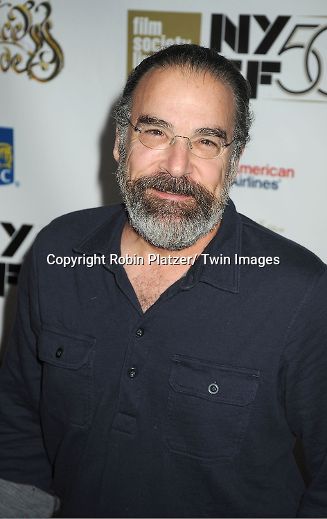 """Mandy Patinkin arrives at """"The Princess Bride""""  screening presented by the Film Society of Lincoln Center and the Academy of Motion Pictures Arts and Sciences at the 2012 New York Film Festival on October 2, 2012 at Alice Tully Hall in  New York City. Rob Reiner was the director and the cast included Billy Crystal, Cary Elwes, Caril Kane, Mandy Patinkin, Chris Sarandon and Rboin Wright."""