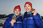 20/02/2018 - Laura Deas and Lizzy Yarnold medals - Womens Skeleton - MPC - Alpensia - Korea