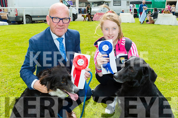 Don't bark<br /> --------------<br /> Tralee photographer, Joe Hanley with his dog Snapper won the best rescue section and Chloe O'Neill also Tralee with her dog Bono who was 2nd in the Special needs section at the dog show in Ballybeggan race track last Saturday.