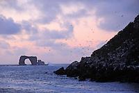 Sunset on Darwin Island Arch, Ecuador, Galapagos Archipelago