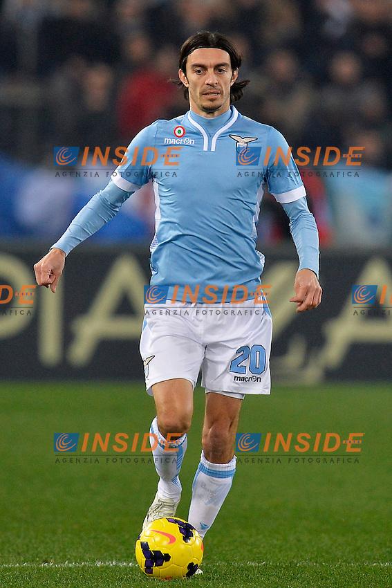 Giuseppe Biava Lazio <br /> Roma 25-01-2014 Stadio Olimpico - Football Calcio Serie A 2013/2014 Lazio - Juventus Foto Andrea Staccioli / Insidefoto