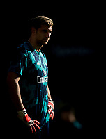 Goalkeeper Emiliano Martínez of Arsenal pre match during the Premier League match between Watford and Arsenal at Vicarage Road, Watford, England on 16 September 2019. Photo by Andy Rowland.
