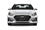 Car photography straight front view of a 2018 Hyundai Sonata SEL 4 Door Sedan