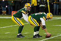 Green Bay Packers quarterback Joe Callahan (6) and long snapper Brett Goode (61) during a National Football League game against the Minnesota Vikings on December 23rd, 2017 at Lambeau Field in Green Bay, Wisconsin. Minnesota defeated Green Bay 16-0. (Brad Krause/Krause Sports Photography)