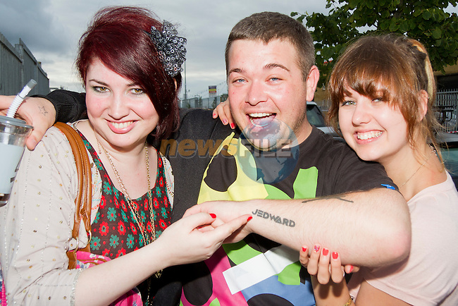 Travelling from the UK to see Jedward were Charlotte, Stephen and Chloe..Picture: Shane Maguire / www.newsfile.ie