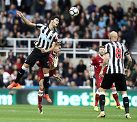 Newcastle United's Mikel Merino battles with Liverpool's Philippe Coutinho<br /> <br /> Photographer Rich Linley/CameraSport<br /> <br /> The Premier League -  Newcastle United v Liverpool - Sunday 1st October 2017 - St James' Park - Newcastle<br /> <br /> World Copyright &copy; 2017 CameraSport. All rights reserved. 43 Linden Ave. Countesthorpe. Leicester. England. LE8 5PG - Tel: +44 (0) 116 277 4147 - admin@camerasport.com - www.camerasport.com