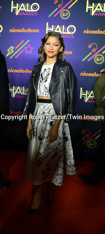 Zendaya attends the 6th Annual Nickelodeon Halo Awards on November 15, 2014 at Pier 36 in New York City. <br /> <br /> photo by Robin Platzer/Twin Images<br />  <br /> phone number 212-935-0770