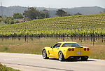 California, San Luis Obispo County: Sports car on back country drive near Edna Valley Vineyard..caluis123-70768.Photo copyright Lee Foster, www.fostertravel.com, 510-549-2202, lee@fostertravel.com