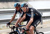 Christopher Froome during the stage of La Vuelta 2012 between Lleida-Lerida and Collado de la Gallina (Andorra).August 25,2012. (ALTERPHOTOS/Paola Otero) /NortePhoto.com<br /> <br /> **CREDITO*OBLIGATORIO** <br /> *No*Venta*A*Terceros*<br /> *No*Sale*So*third*<br /> *** No*Se*Permite*Hacer*Archivo**<br /> *No*Sale*So*third*