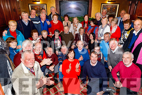 Paddy Mahony (seated centre) from Cullen, Co Cork celebrating his 100th birthday which is on 25th December with a game of cards with his family and friends in the Riverisland Hotel in Castleisland on Sunday December 22nd,