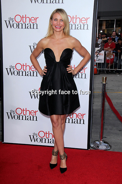 WESTWOOD, CA - April 21: Cameron Diaz at the &quot;The Other Woman&quot; Los Angeles Premiere, Village Theater, Westwood, April 21, 2014.<br />