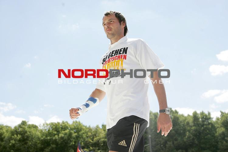 UEFA Euro 2008 Fan Meile Berlin - Empfang der Deutschen Mannschaft am Brandenburger Tor <br /> <br /> Heiko Westermann ( Germany  / Verteidiger / Defender / Schalke 04 #5) <br /> <br /> Foto &copy; nph (  nordphoto  )<br /> <br /> <br /> <br />  *** Local Caption ***