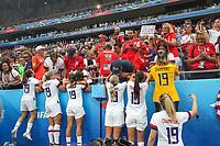 Lyon (França), 07/07/2019 - Copa do Mundo de Futebol Feminino / Estados Unidos x Holanda - Jogadoras dos Estados Unidos durante partida contra à Holanda jogo valido pela Final da Copa do Mundo de Futebol Feminino em Lyon na França neste domingo, 07. (Foto: Vanessa Carvalho/Brazil Photo Press/Agencia O Globo) Esportes