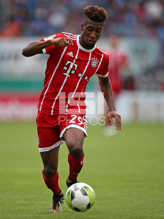 12.08.2017, Football DFB Pokal 2017/2018, 1. round, Chemnitzer FC - FC Bayern Muenchen, stadium an Gellertstrasse. Kingsley Coman (Bayern Muenchen)  *** Local Caption *** &copy; pixathlon<br /> <br /> +++ NED + SUI out !!! +++<br /> Contact: +49-40-22 63 02 60 , info@pixathlon.de