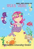 John, CHILDREN, KINDER, NIÑOS, paintings+++++,GBHSFBH-9020A-06,#K#, EVERYDAY,mermaid