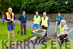 Killarney Tidy Towns Volunteers back cleaning the streets on Monday evening l-r: John Kelliher, Liam O'Brien, Derry O'Mahony,, John Dwyer, Terance Mulcahy and Michael Gleeson