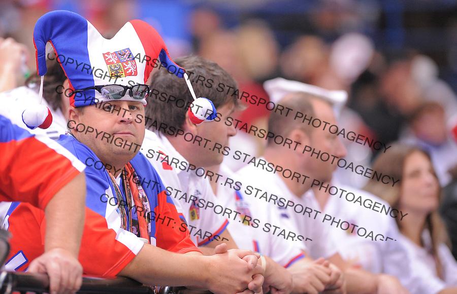 Tennis Tenis<br /> Davis Cup Final 2013<br /> Serbia v Czech Republic<br /> Novak Djokovic v Tomas Berdych<br /> Czech fans supporters navijaci<br /> Beograd, 17.11.2013.<br /> foto: Srdjan Stevanovic/Starsportphoto &copy;