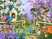 Lori, REALISTIC ANIMALS, REALISTISCHE TIERE, ANIMALES REALISTICOS, paintings+++++Spring_3_reworked_72,USLS43,#A#, EVERYDAY ,puzzles ,birdhouse