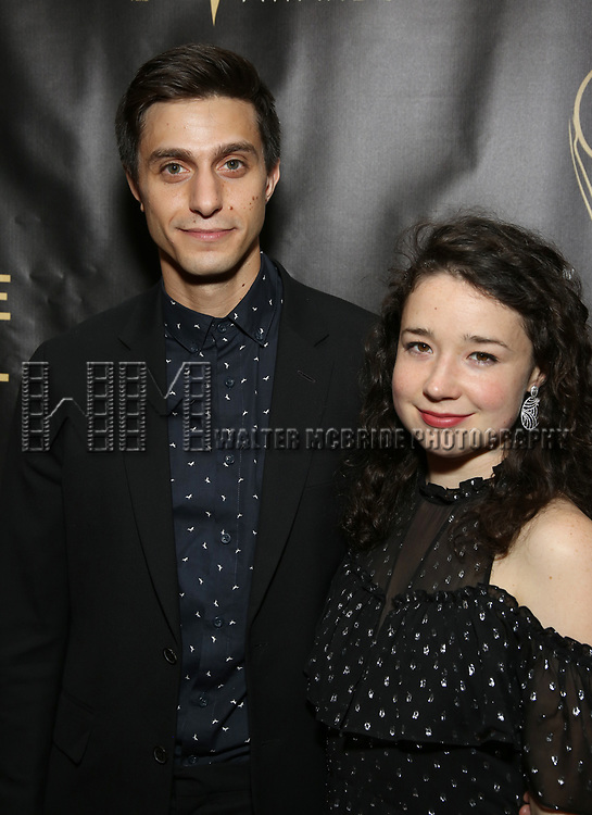 Gideon Glick and Sarah Steele  attends 32nd Annual Lucille Lortel Awards at NYU Skirball Center on May 7, 2017 in New York City.