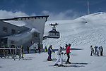 Top of Galzigbahn, start of Valluga,St Anton Ski Area, Austria,