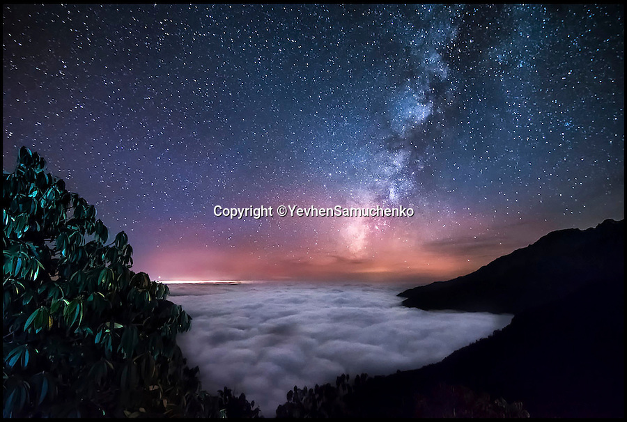 BNPS.co.uk (01202 558833)<br /> Pic: YevhenSamuchenko/RPS/BNPS<br /> <br /> Milkyway above the clouds, Himalayas mountain, Nepal.<br /> <br /> A set of stunning photographs that reveal the natural beauty in science are set to go on show to the public.<br /> <br /> The 100 incredible images are the shortlisted entries for the Royal Photographic Society's International Images for Science competition and highlight how important photography is for academics.<br /> <br /> The shots form a dazzling display of the world's best scientific photography from various disciplines and from scientists all over the world.