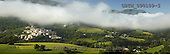 Tom Mackie, LANDSCAPES, panoramic, photos, Low Cloud over Preci, Valnerina, Umbria, Italy, GBTM090109-3,#L#