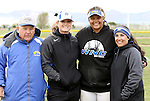 Briauna Carter with coaches at the Sophomore Day celebration after the first game of the Western Nevada College softball doubleheader on Saturday, April 30, 2016 at Pete Livermore Sports Complex. Photo by Shannon Litz/Nevada Photo Source
