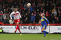Marcus Haber of Stevenage heads goalwards. Stevenage v Swindon Town - npower League 1 -  Lamex Stadium, Stevenage - 27th October, 2012. © Kevin Coleman 2012.