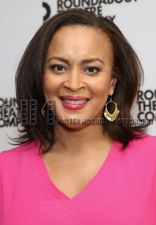 """Opal Alladin attends the """"Travesties"""" Meets The Press on March 6, 2018 at the Roundabout Theatre in New York City."""